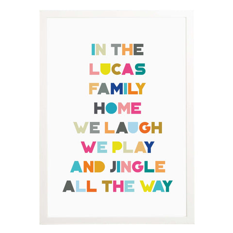 Jingle All The Way Family Christmas Print