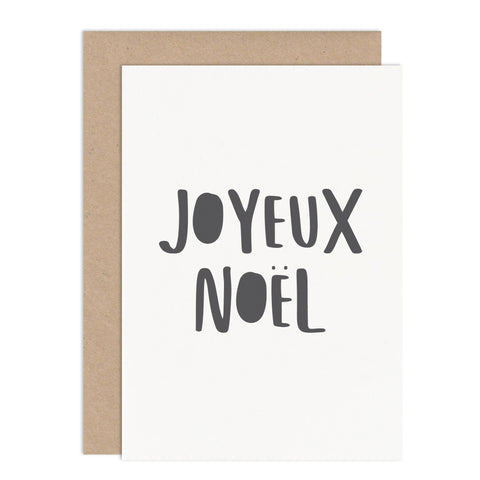 Joyeux Noel Typographic Christmas Card