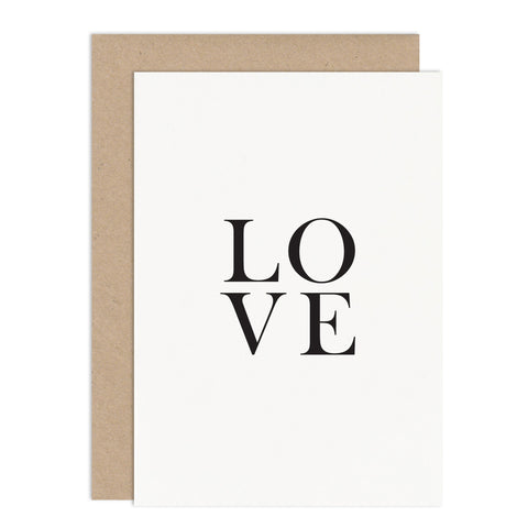 LOVE Card - Russet and Gray