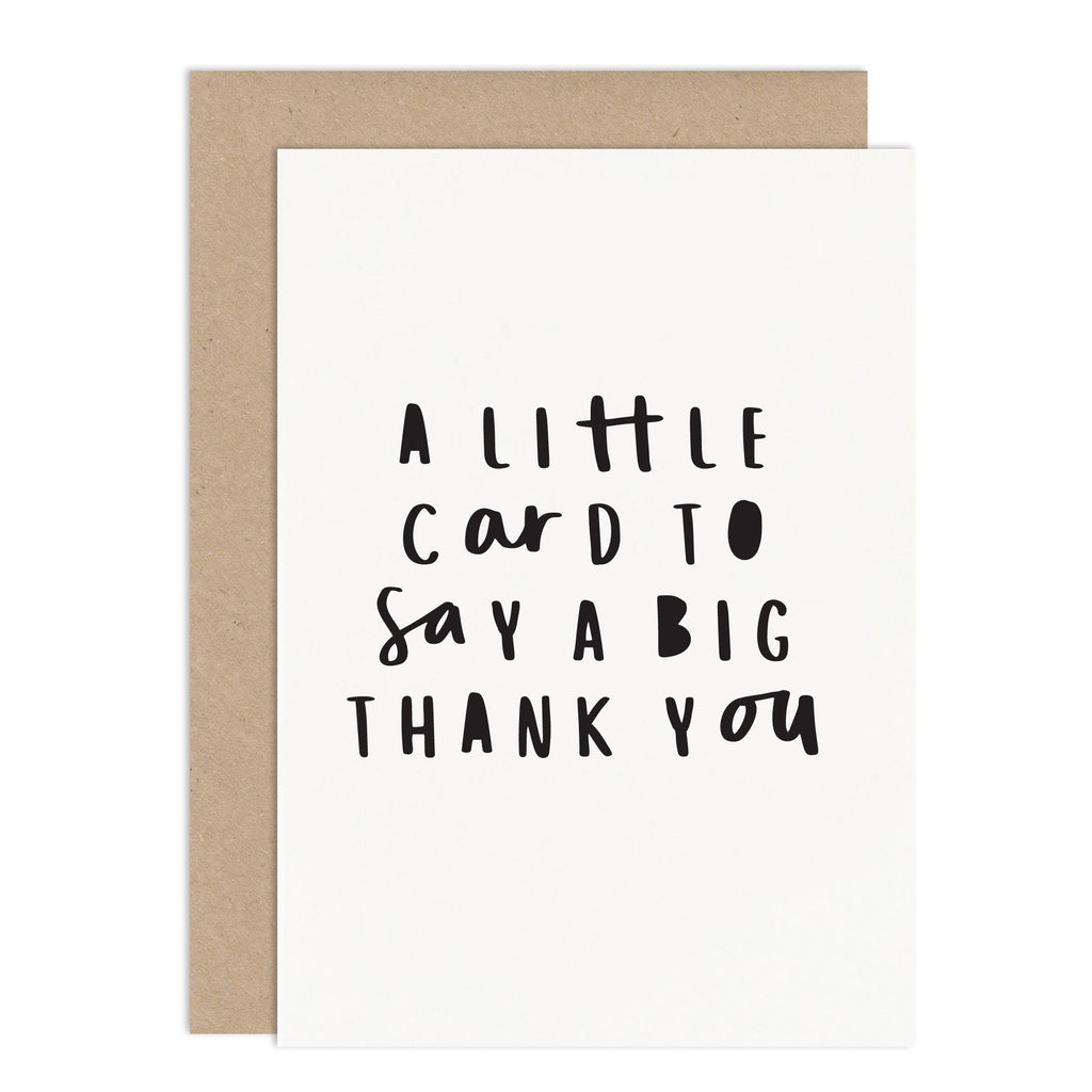 Little Card Big Thank You - Thank You Card Pack