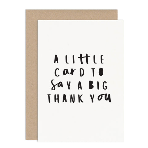 Little Card Big Thank You Card Pack