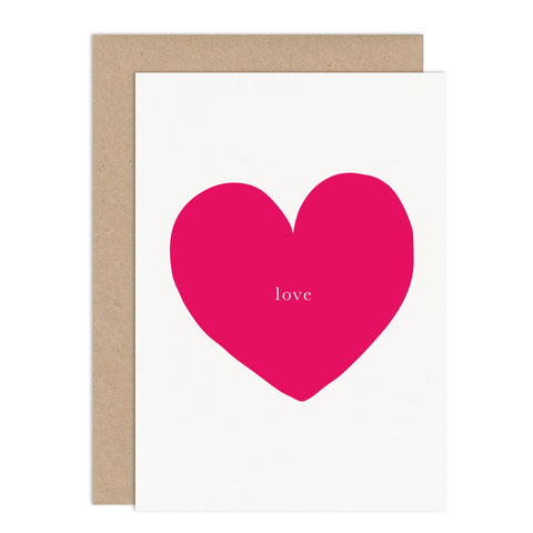 Love Heart Valentines Card