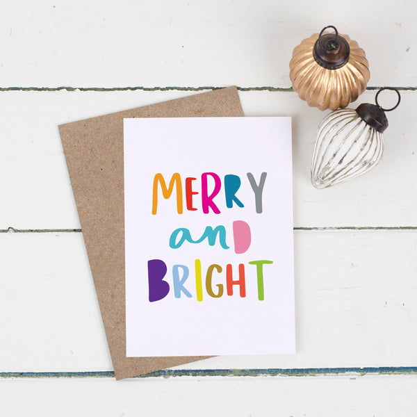 Merry And Bright Christmas Card Pack