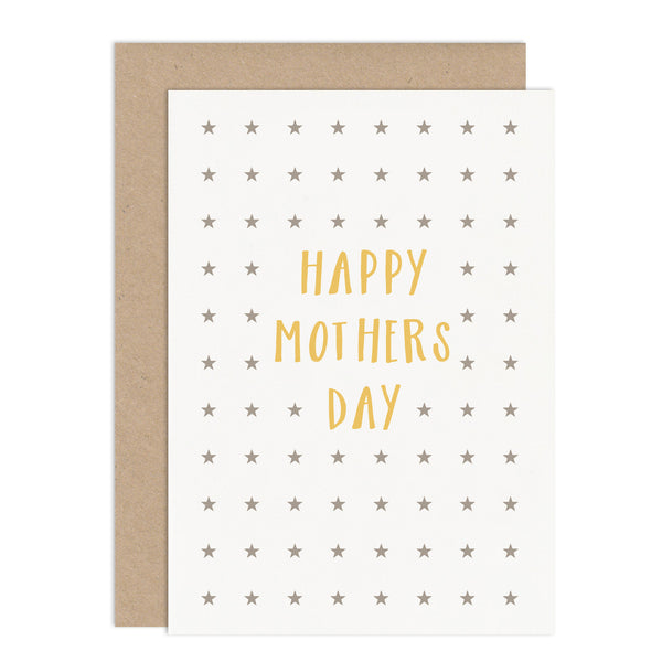 Modern Stars Mothers Day Card - Russet and Gray