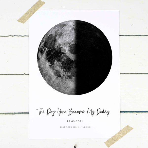 Personalised Moon Phase Print