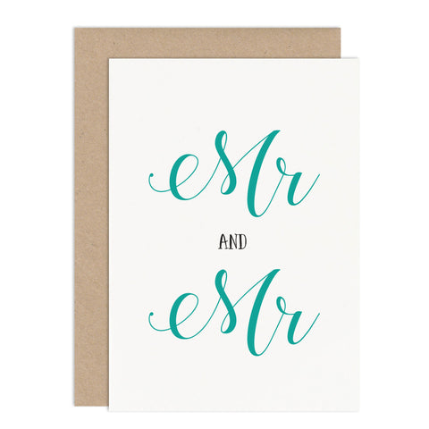 Mr & Mr Civil Ceremony Card - Russet and Gray