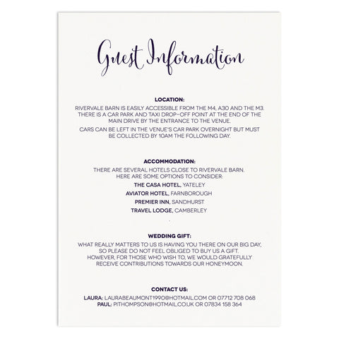 Nightgarden Information Card - Russet and Gray