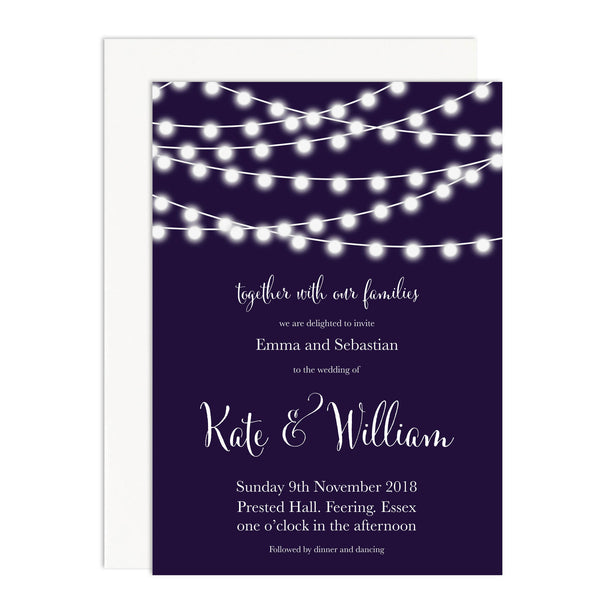 Nightgarden Wedding Invitations - Russet and Gray