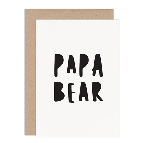 Papa Bear Fathers Day Card