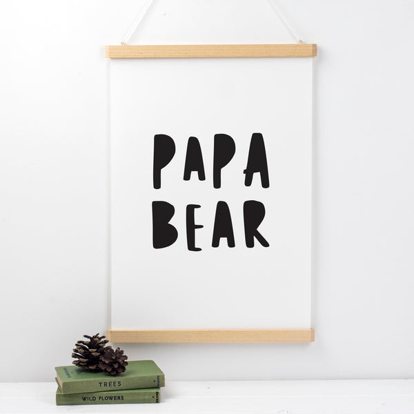 Papa Bear Fathers Day Print Gift For Dad