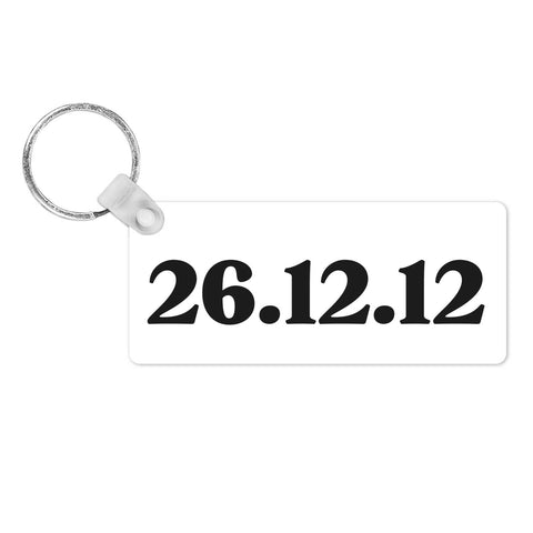 Personalised Dates Keyring