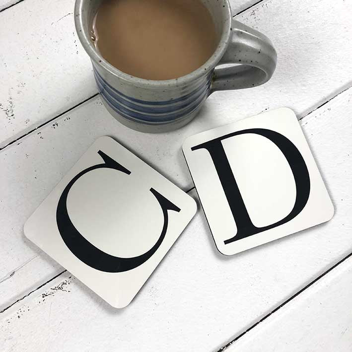 Personalised Initial Coasters