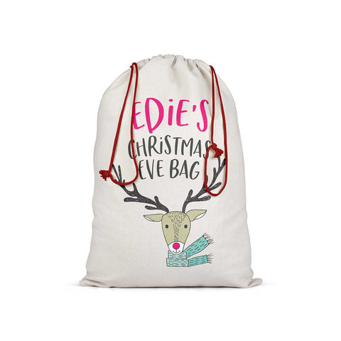 Personalised Animal Christmas Eve Bag