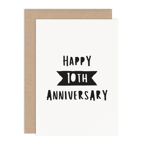 Personalised Anniversary Card - Russet and Gray