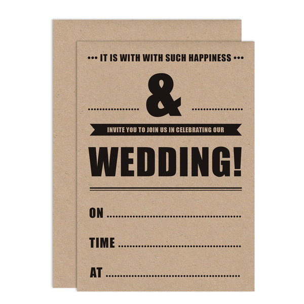 Retro Poster DIY Wedding Stationery