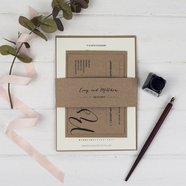 Modern Calligraphy Sample Pack - Russet and Gray