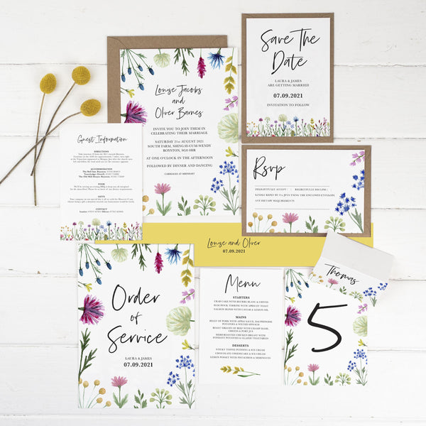 Wildflowers Wedding Stationery