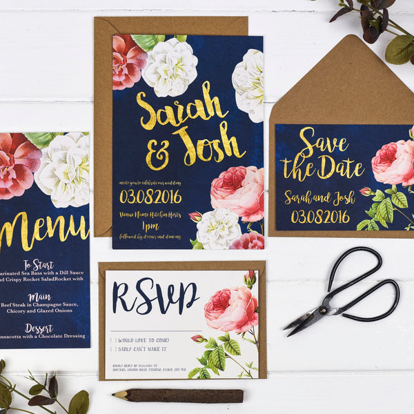 English Garden Wedding Stationery