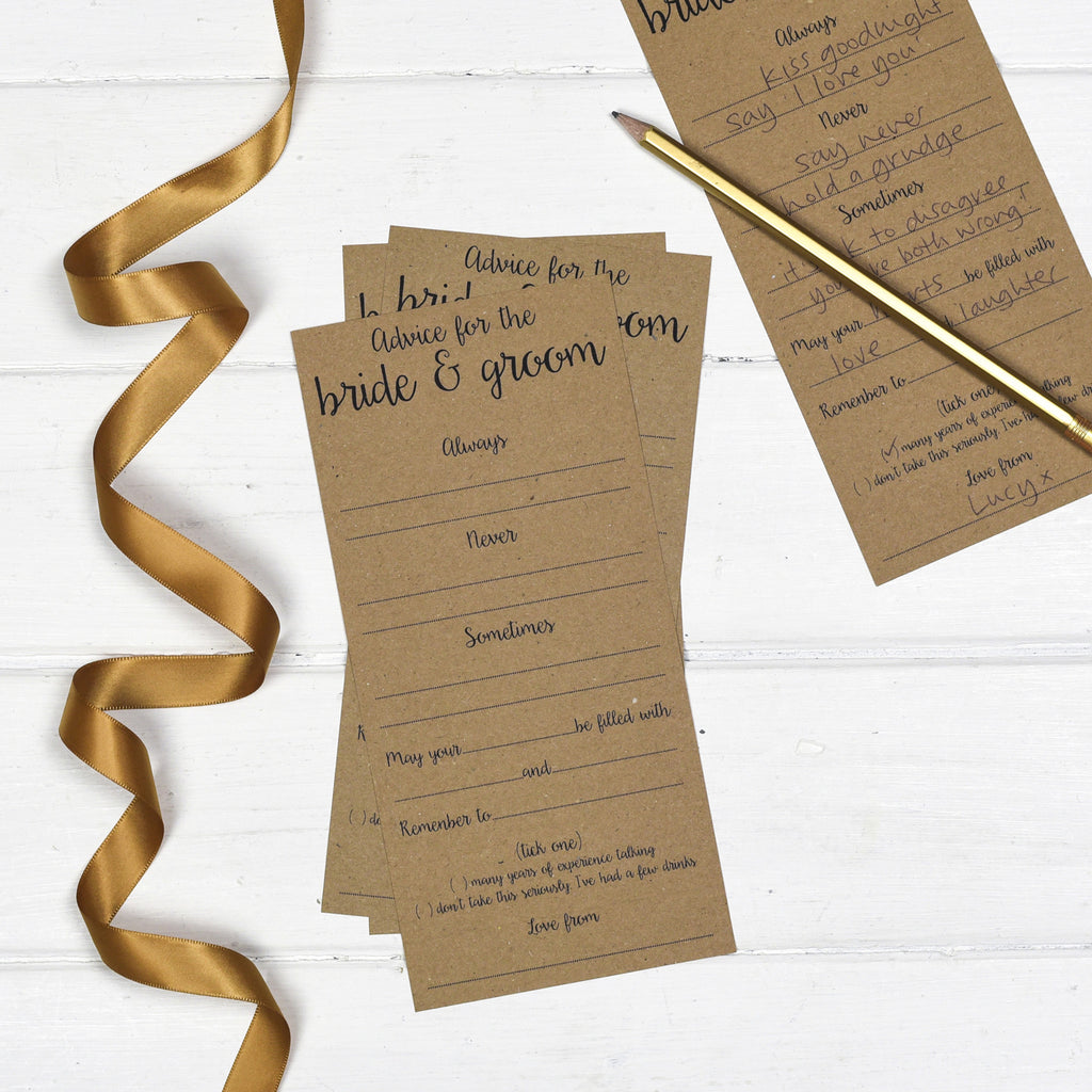 Wedding Advice: Wedding Advice Cards