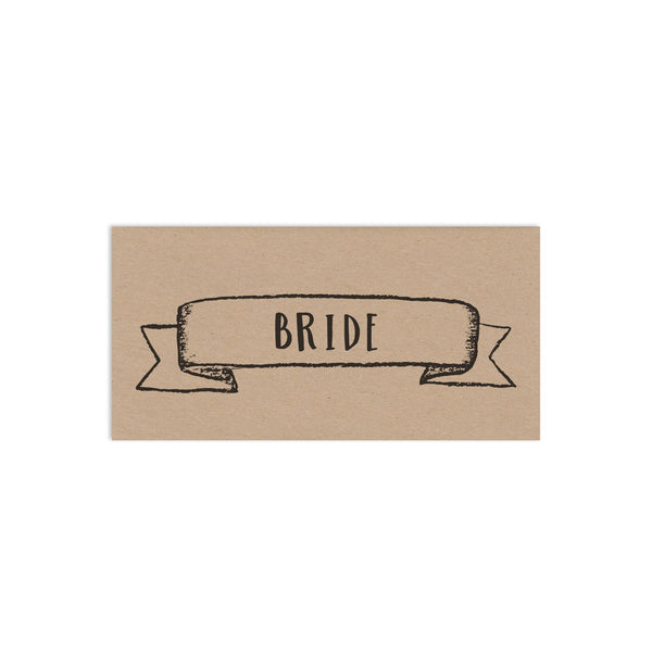 Personalised Rustic Wedding Place Cards