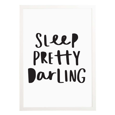 Sleep Pretty Darling Nursery Print New Baby Gift