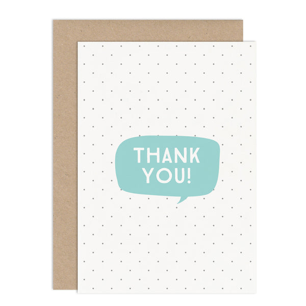 Thank You Speech Bubble Card Pack - Russet and Gray