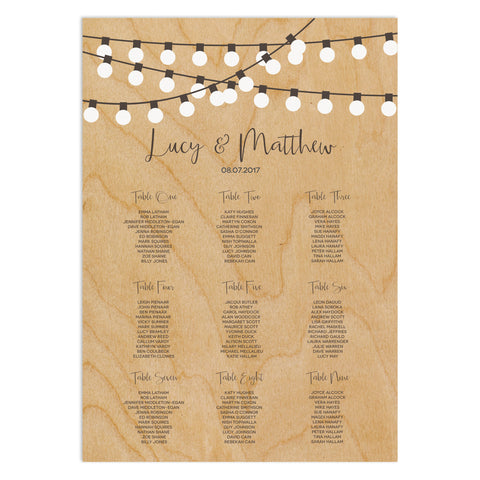 String Lights Table Plan