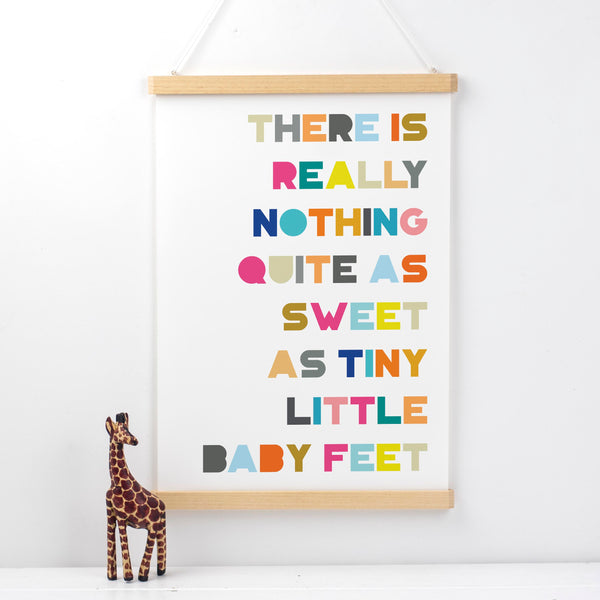 Tiny Little Baby Feet Nursery Print