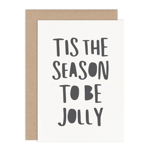 Tis The Season Typographic Christmas Card