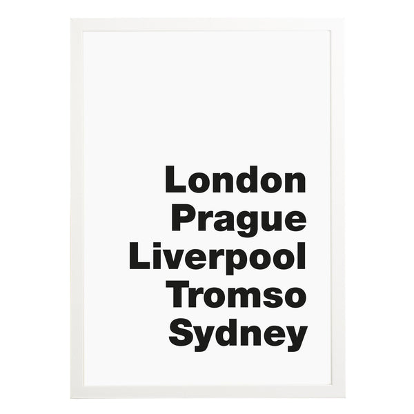 Favourite Destinations Print