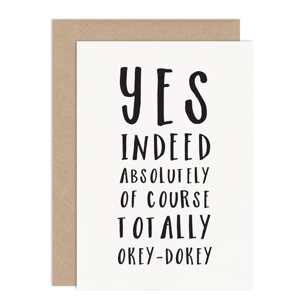 Typographic Acceptance Card - Russet and Gray