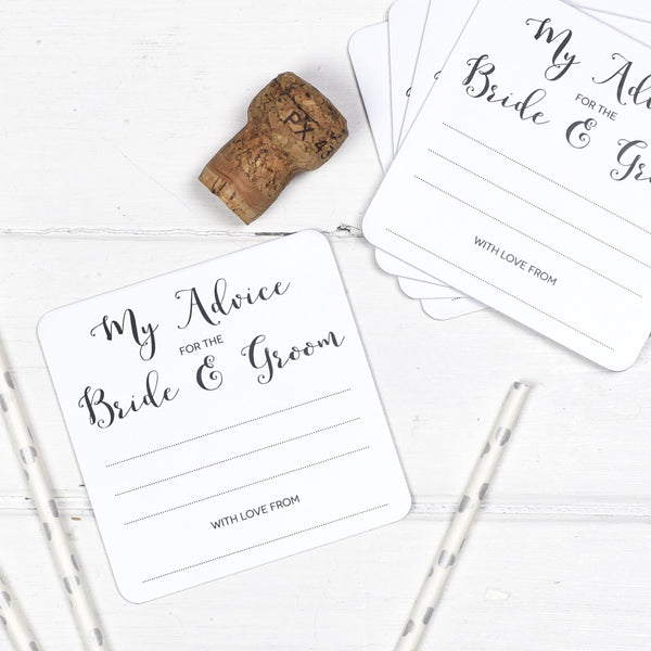 Wedding Advice Coasters