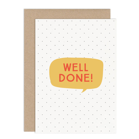 Well Done Card - Russet and Gray