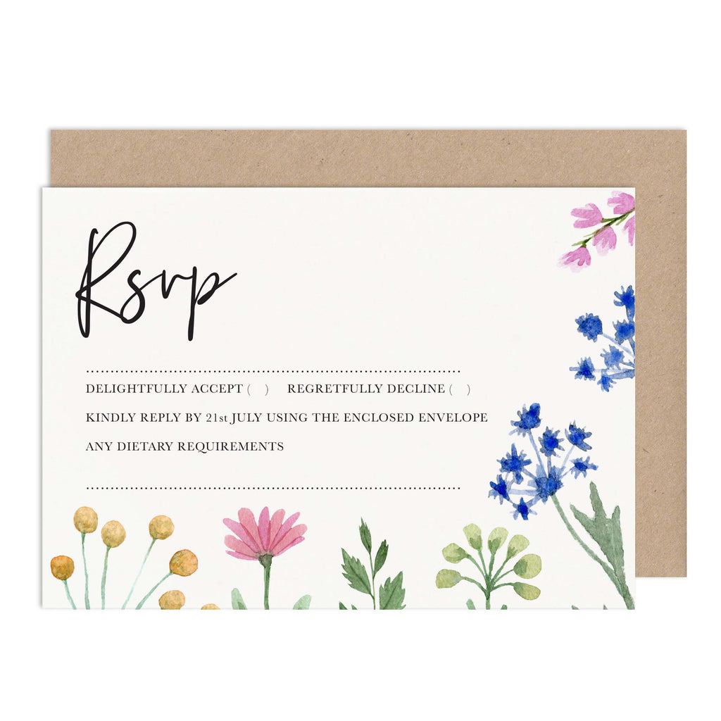 Wildflowers RSVP Card