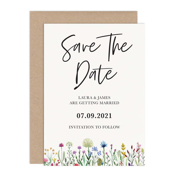 Wildflowers Wedding Save The Date Card