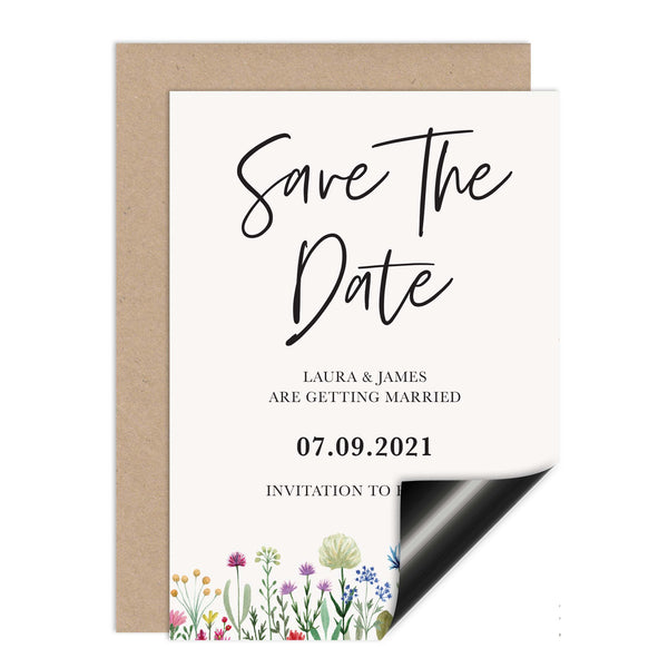 Wildflowers Wedding Save The Date Magnet