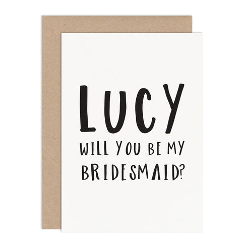 Will You Be My Bridesmaid Card - Russet and Gray