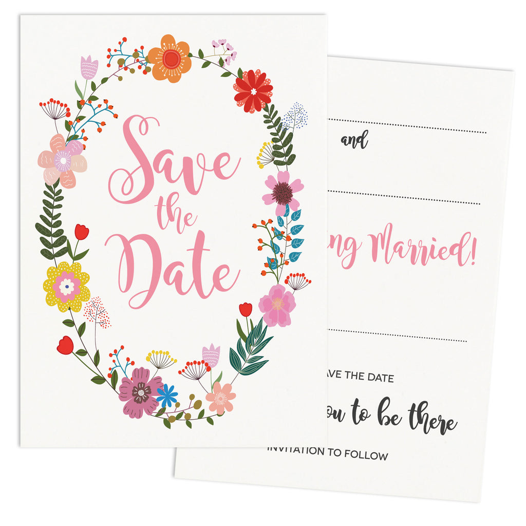 Floral Border DIY Wedding Stationery