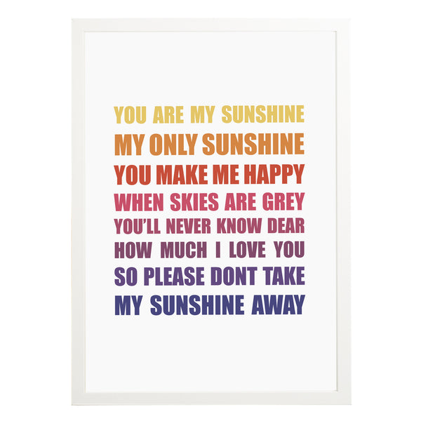 You Are My Sunshine Print - Russet and Gray