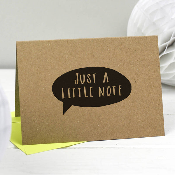cool thank you card modern kraft card