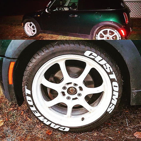 Custom Tire Lettering and Tire Stickers