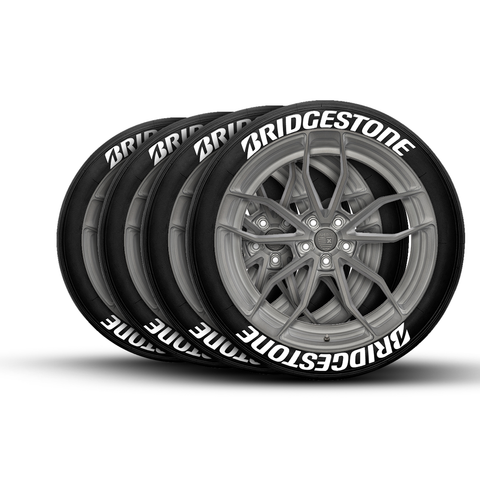Bridgestone Tire Lettering Tire Stickers