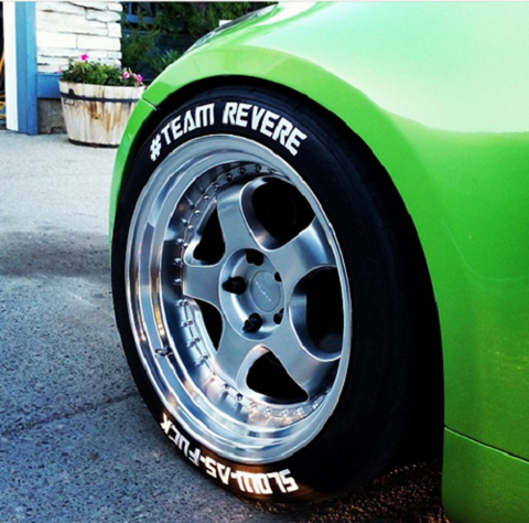 Custom tire lettering and tire stickers permanent and peel stick