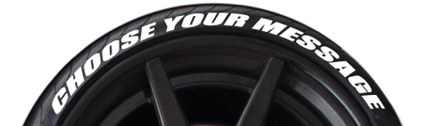 Create Your Own Tire Lettering (Up to 12 Characters)