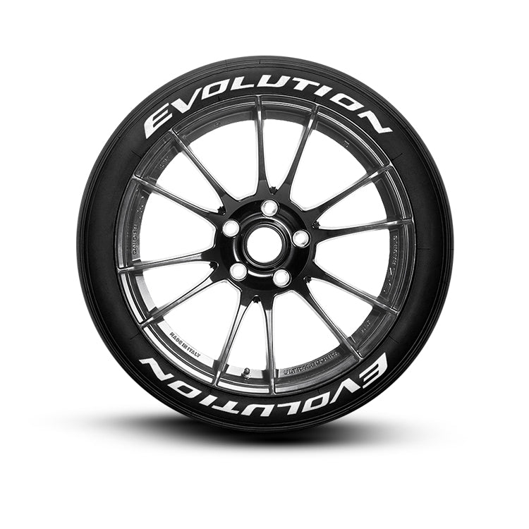 Evolution Tire Lettering and Tire Stickers