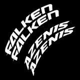 Falken Azenis Tire Lettering Kit (Set of 8 Decals)