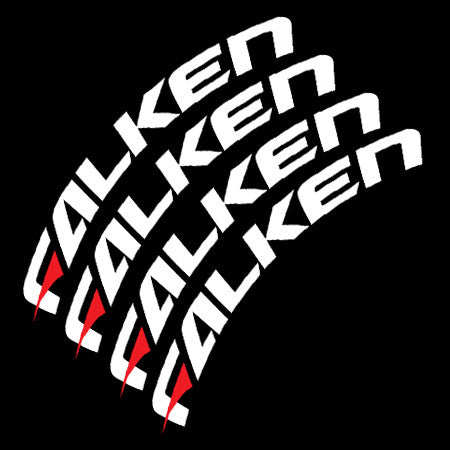 Falken Tire Lettering (With Red Dash - Set of 4)