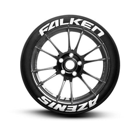 falken white letter tires falken azenis tire lettering kit set of 8 tire decals 21654