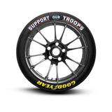 Goodyear Support Our Troops Tire Lettering