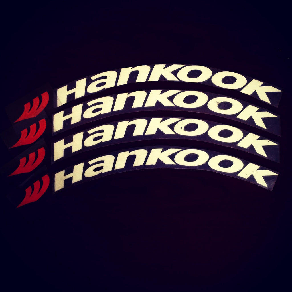 Hankook tire lettering tire stickers